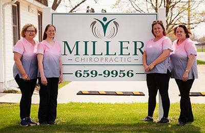 Chiropractor Dewitt IA Carol Miller and Stephanie Makela with Team